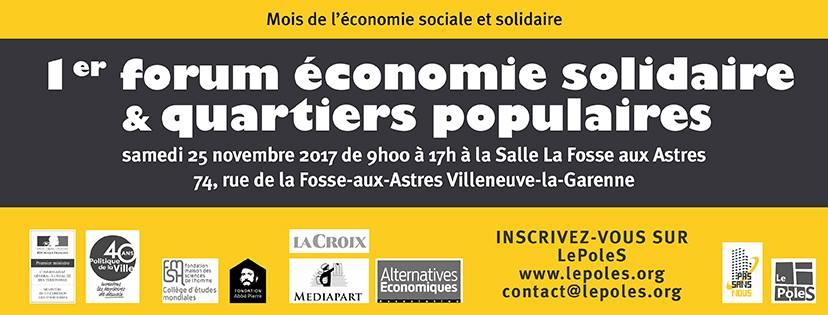 Teaser forum Economie Solidaire & Quartiers Populaires
