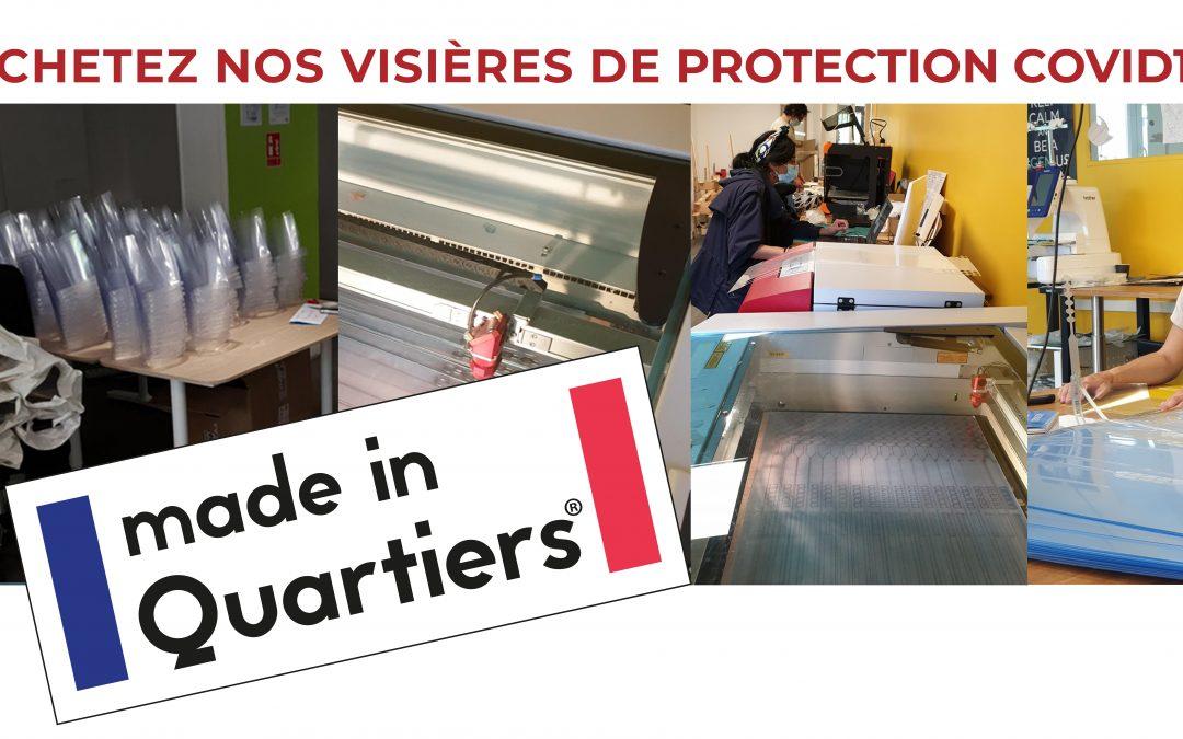 Achetez nos visières de protection Covid19